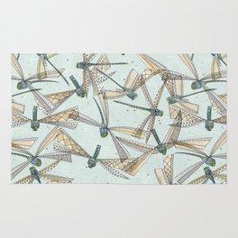 watercolor dragonflies Rug