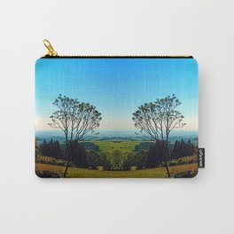 A tree, some benches and lots of scenery Carry-All Pouch