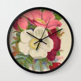 033-Rosa rugosa, Memorial Rose, rosa wichuriana16 Wall Clock