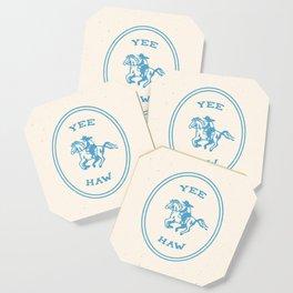 Yee Haw in Blue Coaster