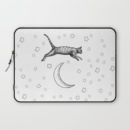 Cat Jumping Over The Moon Laptop Sleeve