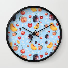 Stone Fruit Wall Clock