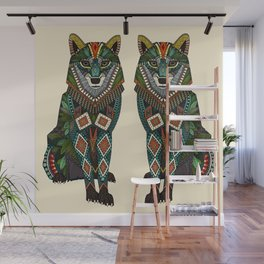 wolf ivory Wall Mural