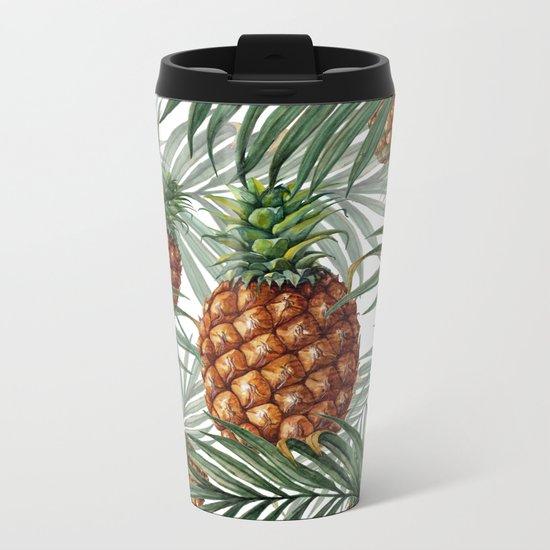 King Pineapple Metal Travel Mug
