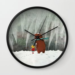 View from the hill Wall Clock