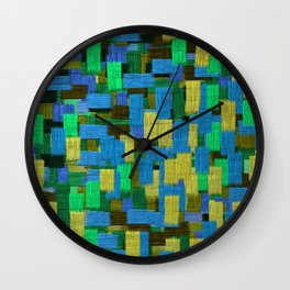 Twilight Musings Strong Strokes Wall Clock
