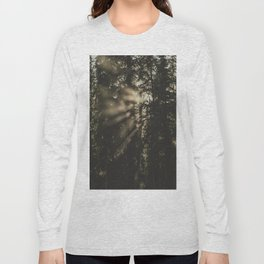 Sunset in the Woods - Nature Photography Long Sleeve T-shirt