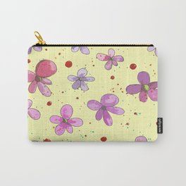 Graphic Pink Florals Carry-All Pouch