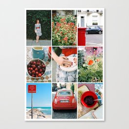 The Summer Collection- Story Board Collage - 9 images styled together Canvas Print