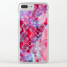 Psicodelic Adventure - Scarlet Clear iPhone Case