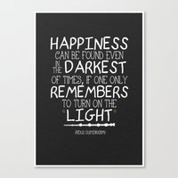 dumbledore Canvas Prints featuring Dumbleism - Dumbledore Quote 2 by Teacuppiranha