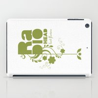 """radiohead iPad Cases featuring Radiohead """"Last flowers"""" Song / Green version by LilaVert"""
