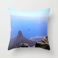 south africa Throw Pillows featuring South Africa Impression 9 by Art-Motiva