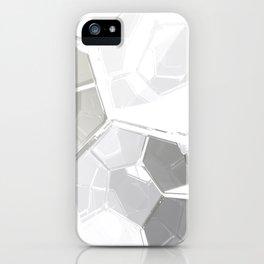 White Fractal iPhone Case