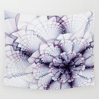 fabric Wall Tapestries featuring Fabric Posies by Bunny Clarke