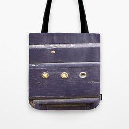 Old purple door Tote Bag