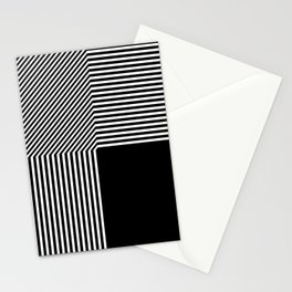 Geometric abstraction, black and white Stationery Cards