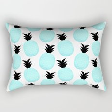 Turquoise Pineapples Rectangular Pillow