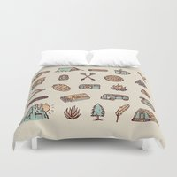 camping Duvet Covers featuring Lets Go Camping by WEAREYAWN