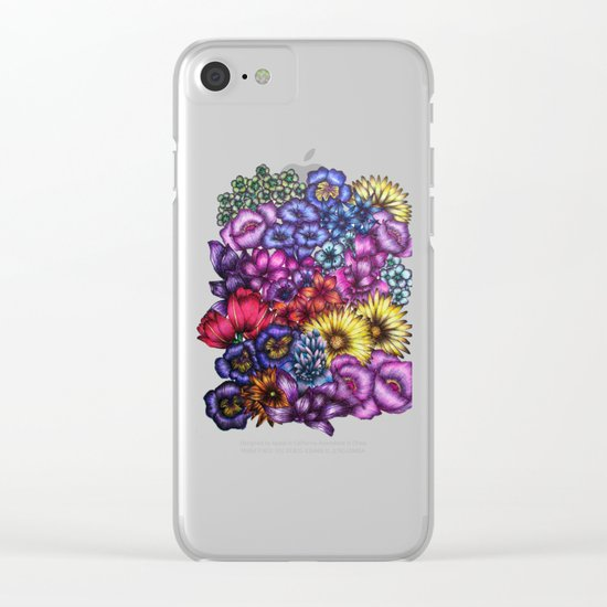 A Field of Flowers Clear iPhone Case