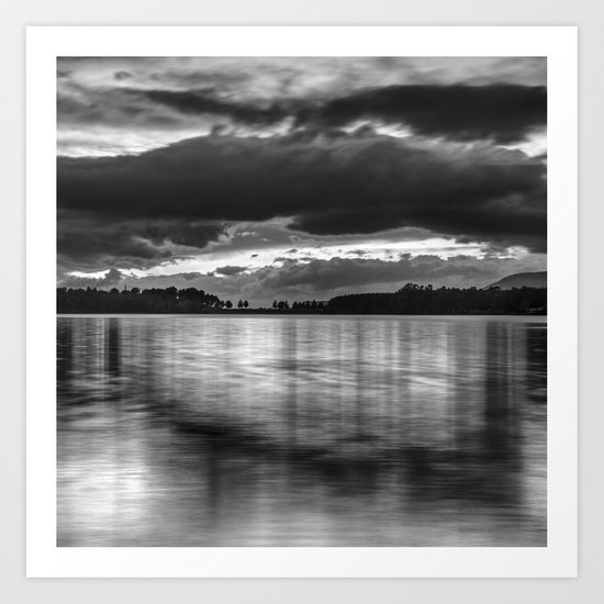"""Sunset After The Storm""  BW Art Print"
