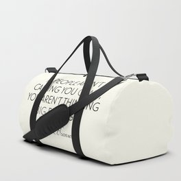 Richard Branson quote, think big, take risks, inspiring, motivational sentence Duffle Bag