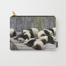 Marvelous Group Of Gracious Little Panda Bears Dozing On Pier Ultra High Quality Carry-All Pouch