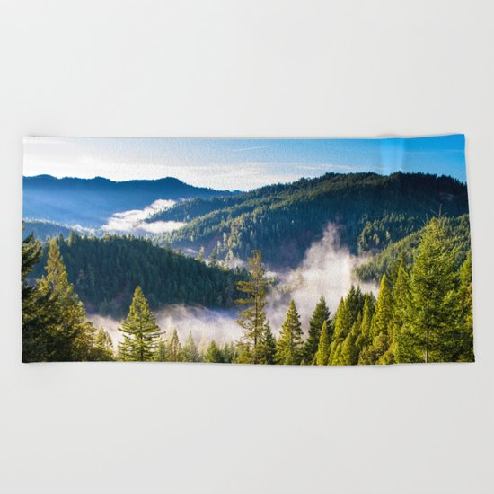Smoke on the Mountains Beach Towel