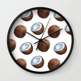 Coconut Mask Wall Clock