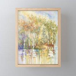 Lazy Day on Swan Lake Framed Mini Art Print