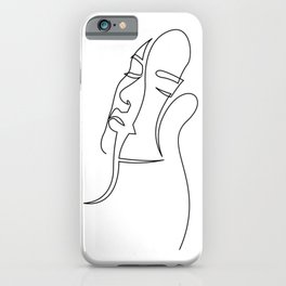 one line - appeasement iPhone Case