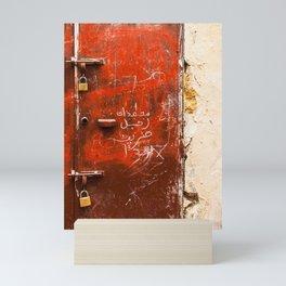 Red Door in Morocco Mini Art Print