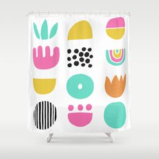 SIMPLE GEOMETRIC 001 Shower Curtain