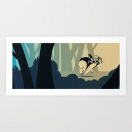 Bearbot And Bugdude Art Print