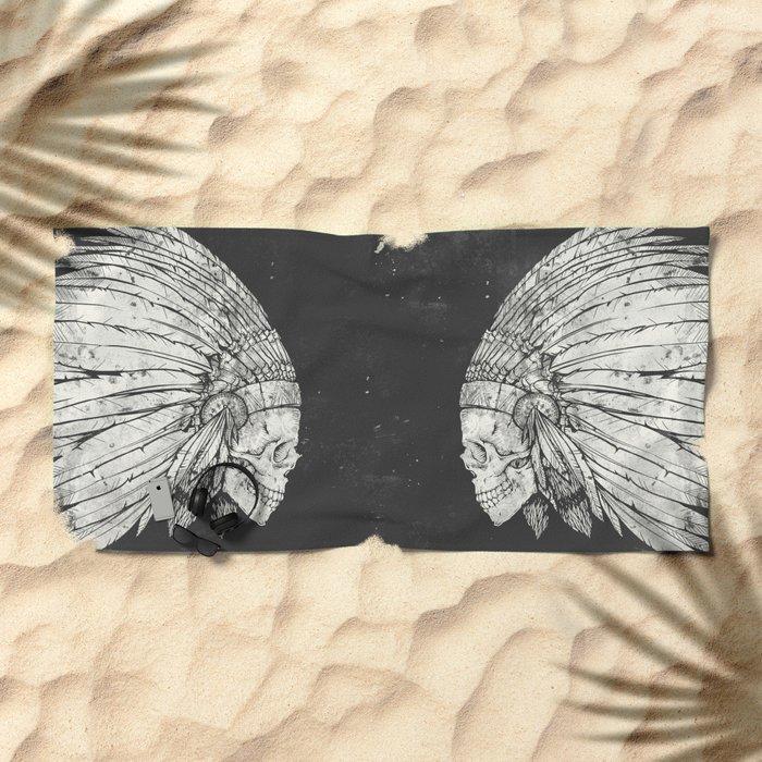 Indian Skull Beach Towel
