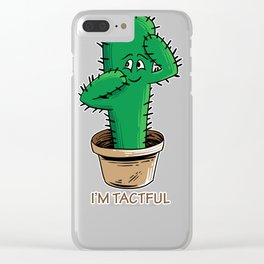 Funny cactus shirt tactful gift for cinco de mayo Clear iPhone Case