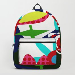 flowers and plant naif Backpack