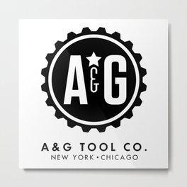 A&G Circle Logo Metal Print