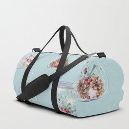 Christmas Pattern Mint Duffle Bag