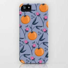 Clementine Berry Pattern iPhone Case
