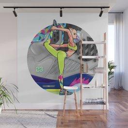 Yoga girl Cool Noodle and Jordan Fresh Prince Wall Mural