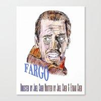 fargo Canvas Prints featuring Fargo by AdrockHoward