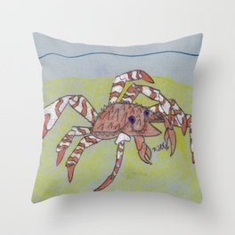 Spider Crab Throw Pillow