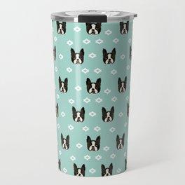 Boston Terrier head cute pet pattern dog breed gifts boston terrier lovers Travel Mug