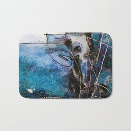 Midnight Sky, Acrylic artwork Bath Mat
