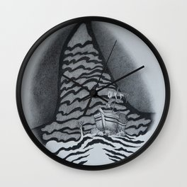 Just Over There (Shipwreck) Wall Clock