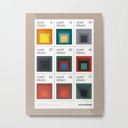 Josef Albers - Sheet of stamps dedicated to German designer (Issue 20-015) Metal Print