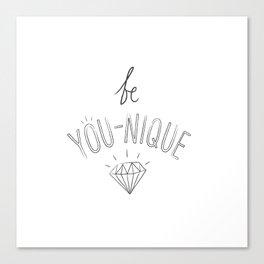 Be You-nique Canvas Print