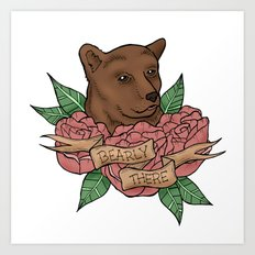 Bearly There Art Print
