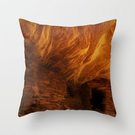 House on Fire with Modification Throw Pillow